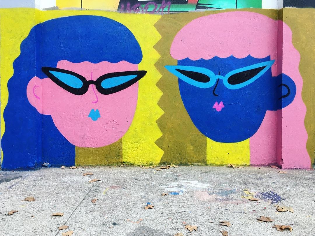 Wallspot - EmilyE - Double Trouble - Barcelona - Agricultura - Graffity - Legal Walls - Illustration