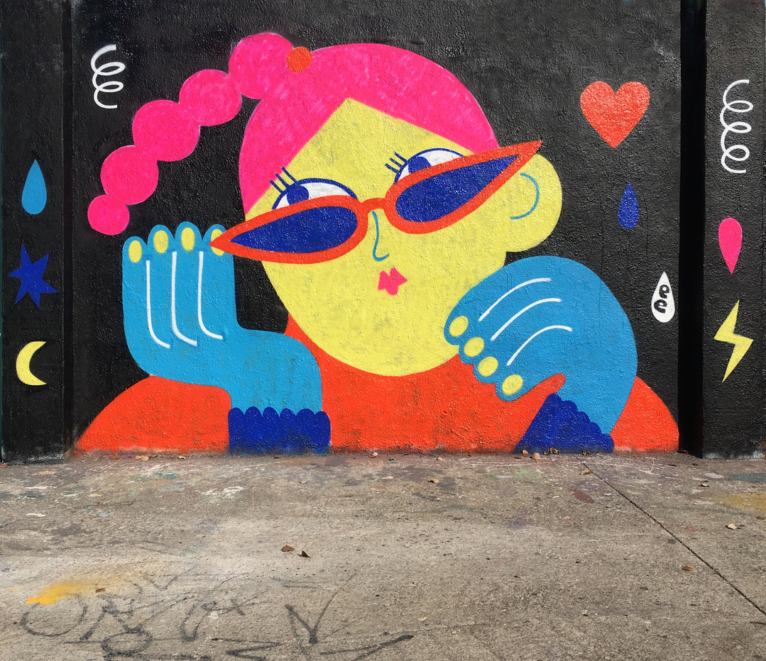 Wallspot - EmilyE - Emoji Heart - Barcelona - Agricultura - Graffity - Legal Walls - Illustration