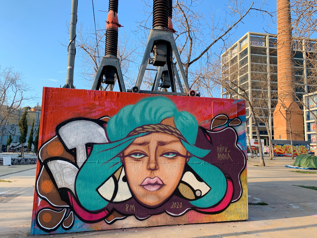 Wallspot - nirv_anna - Dia Internacional de la Dona - Barcelona - Tres Xemeneies - Graffity - Legal Walls -
