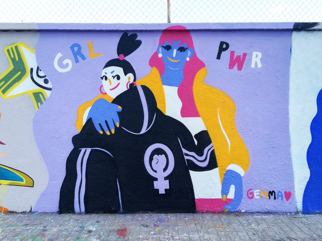Wallspot - gemfontanals - GRL PWR - Barcelona - Agricultura - Graffity - Legal Walls - Illustration