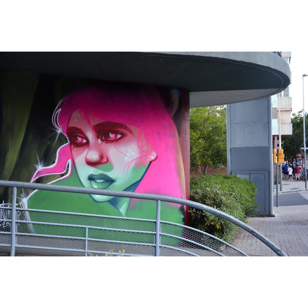 Wallspot - martantares - El pont de la ronda - martantares - Barcelona - El pont de la ronda - Graffity - Legal Walls -