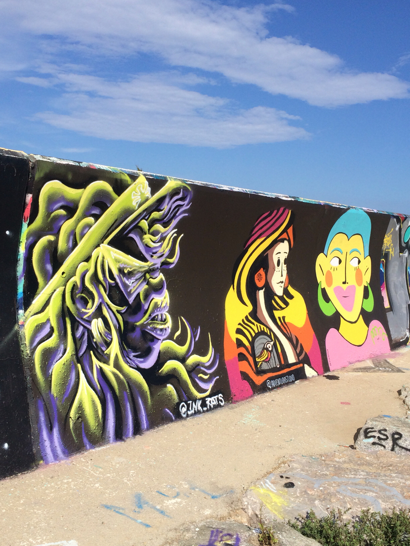 Wallspot - ink_rats - The girls  - Barcelona - Forum beach - Graffity - Legal Walls - Illustration