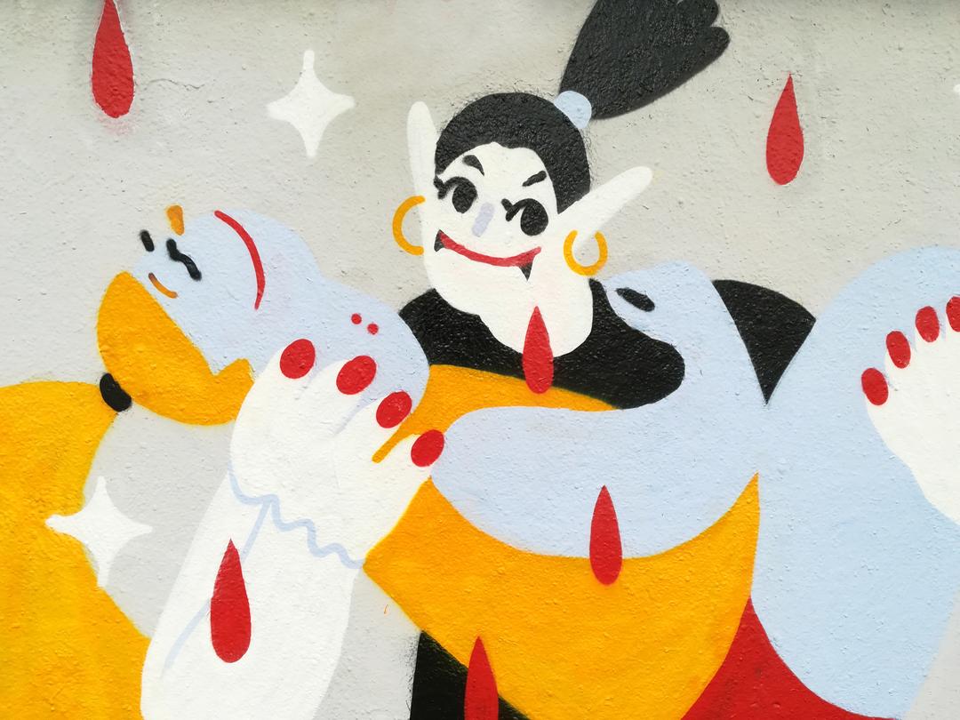 Wallspot - gemfontanals - La Vampira - Barcelona - Agricultura - Graffity - Legal Walls - Illustration