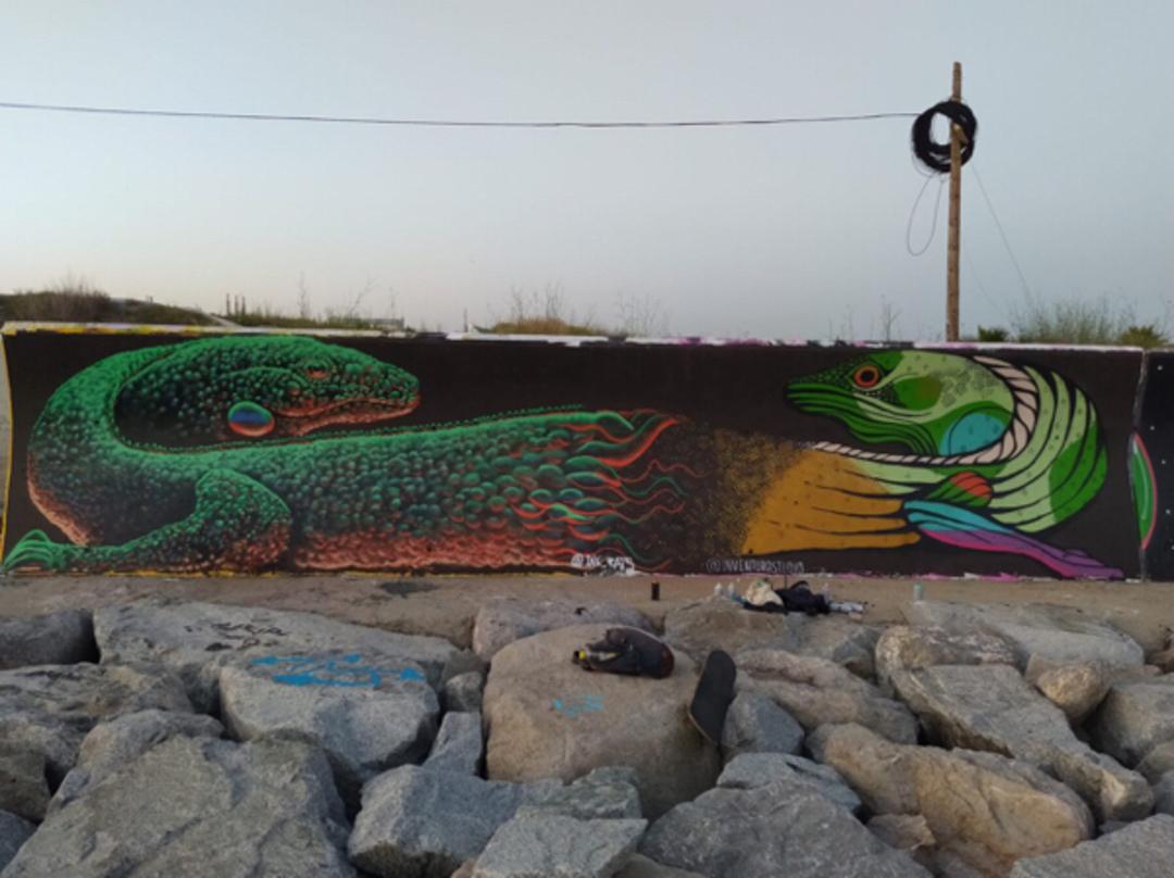 Wallspot - ink_rats -  - Barcelona - Forum beach - Graffity - Legal Walls -