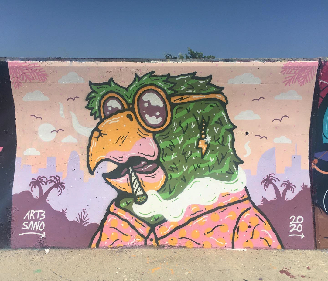 Wallspot - art3sano - Forum beach - art3sano - Barcelona - Forum beach - Graffity - Legal Walls - Illustration