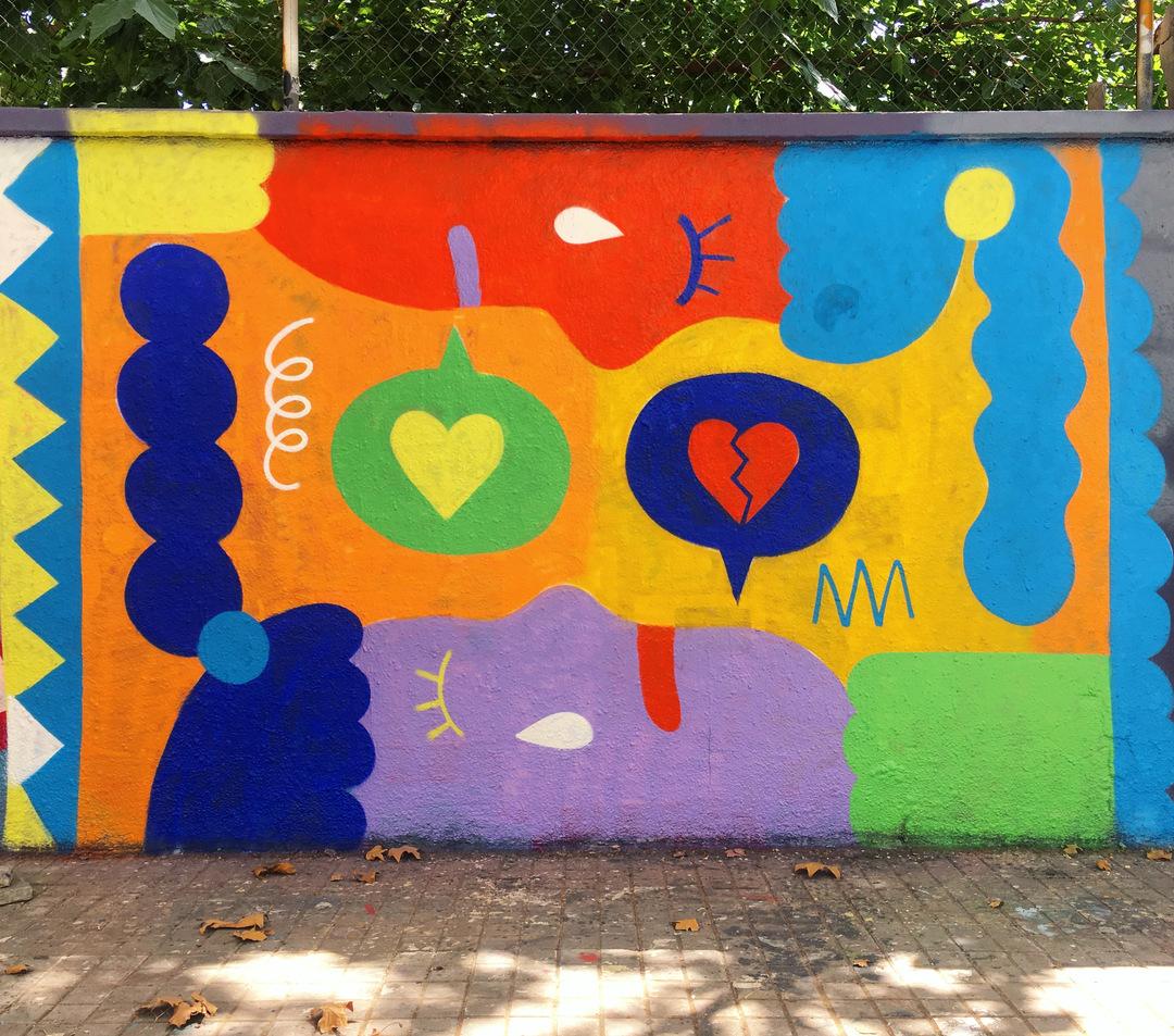 Wallspot - EmilyE - Talking Heads - Barcelona - Agricultura - Graffity - Legal Walls - Illustration