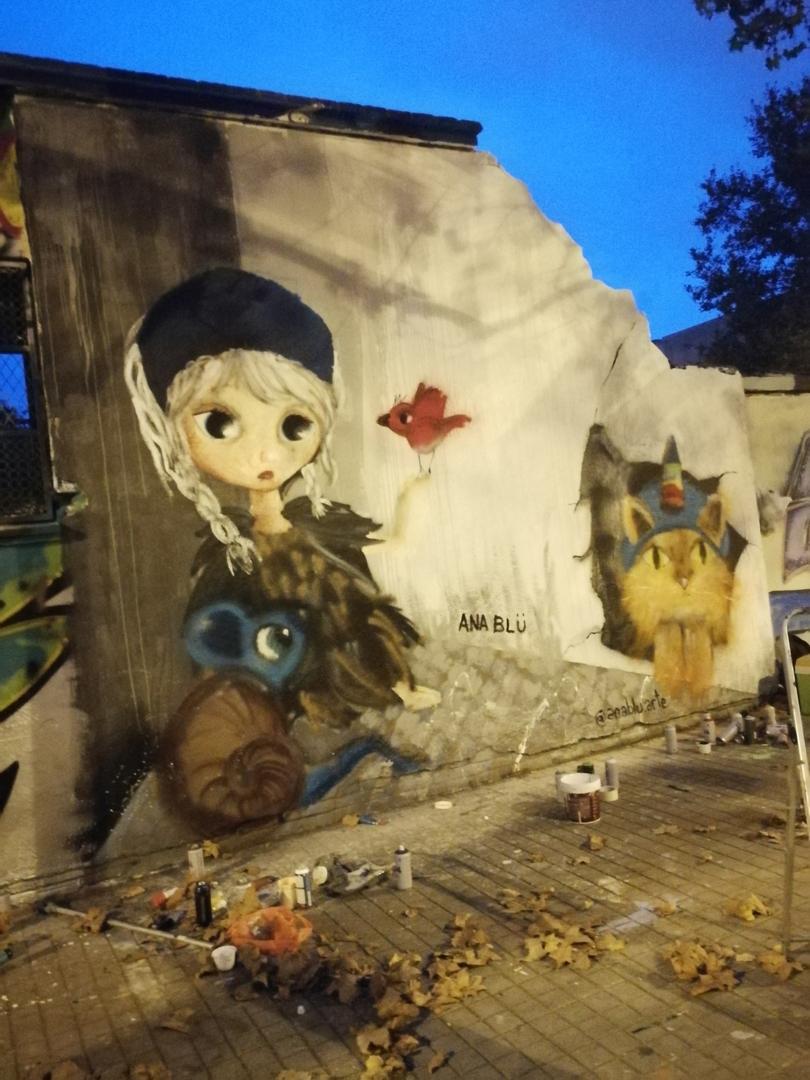 Wallspot - Ana BLÜ -  - Barcelona - Selva de Mar - Graffity - Legal Walls -