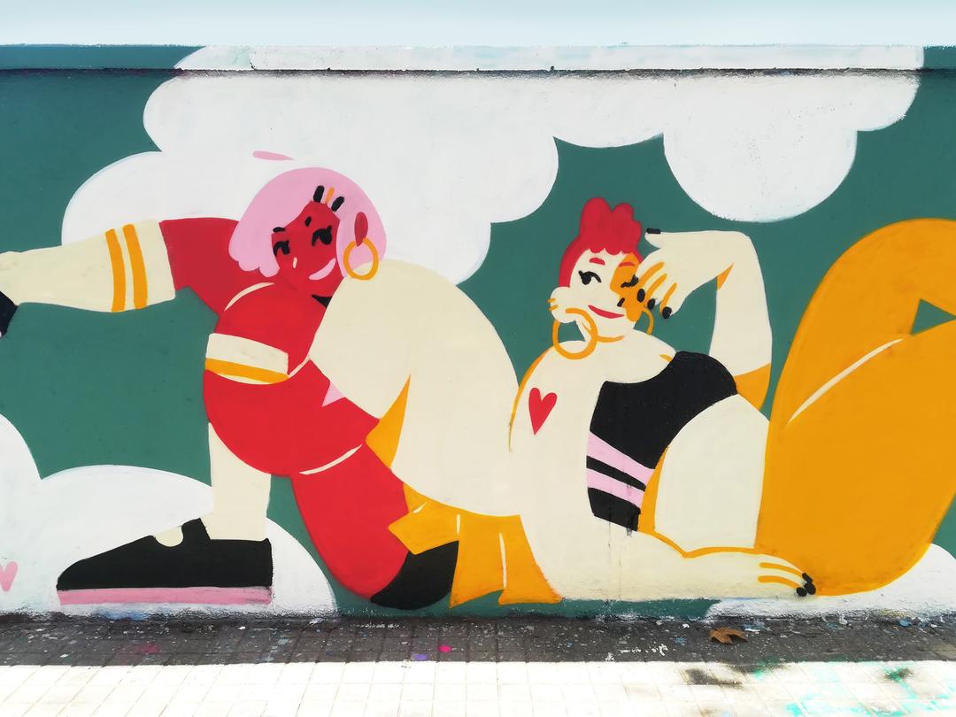 Wallspot - gemfontanals - Rooftop - Barcelona - Agricultura - Graffity - Legal Walls - Illustration