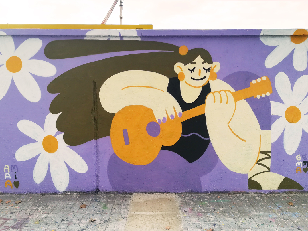 Wallspot - gemfontanals - Amaia - Barcelona - Agricultura - Graffity - Legal Walls - Illustration