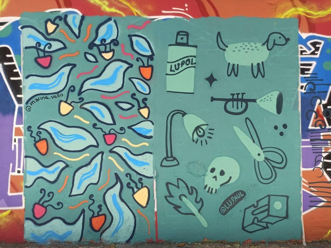 Wallspot - evalop - evalop - Project 29/09/2020 - Barcelona - Selva de Mar - Graffity - Legal Walls - Illustration - Artist - Marinavallo