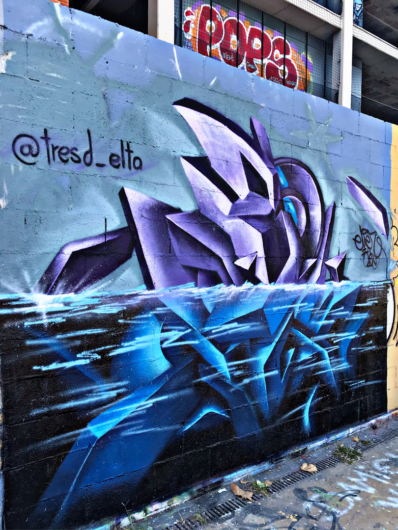 Wallspot - el_hier - Under water! - Barcelona - Tres Xemeneies - Graffity - Legal Walls - , ,