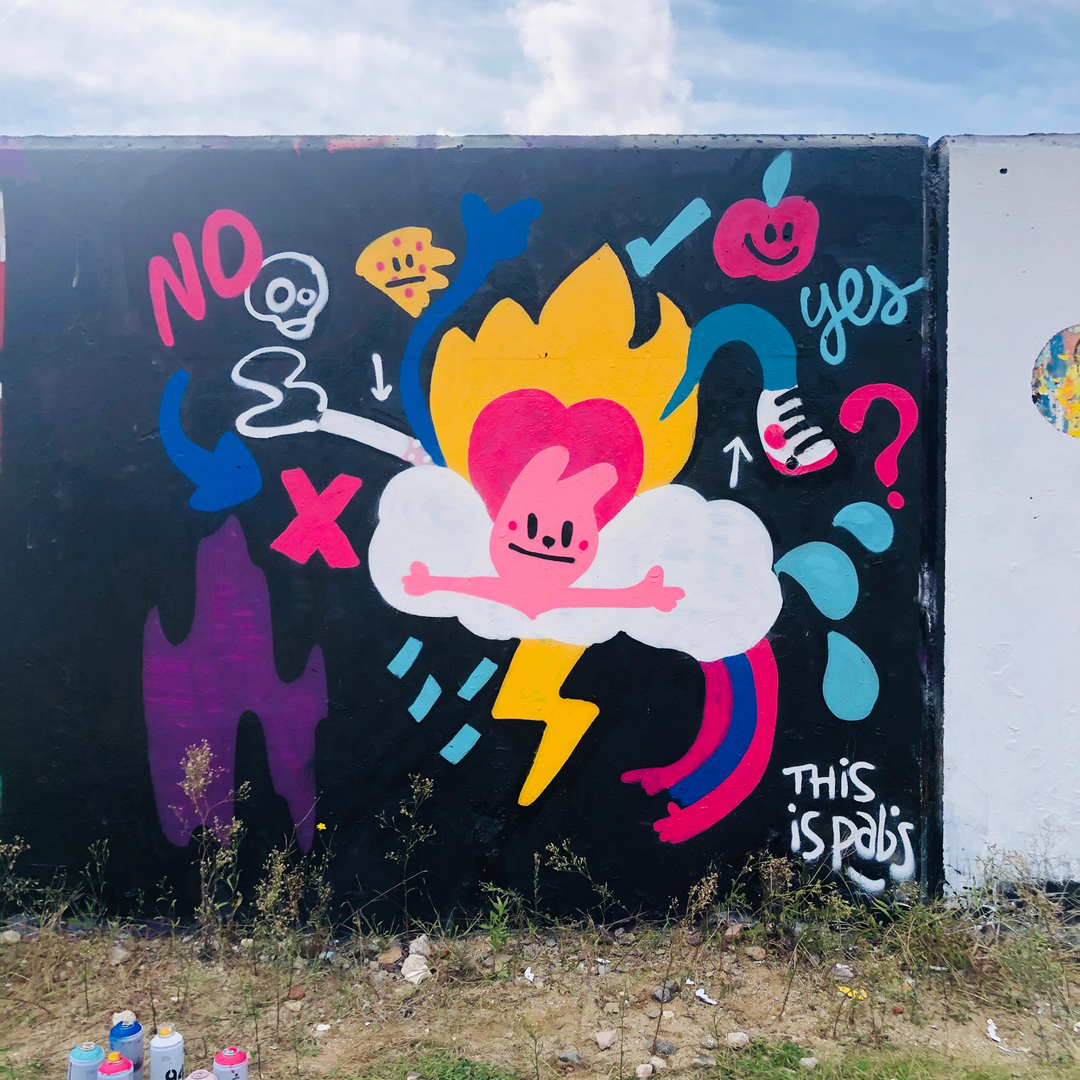 Wallspot - pabs - the eternal dilema - Barcelona - Forum beach - Graffity - Legal Walls -