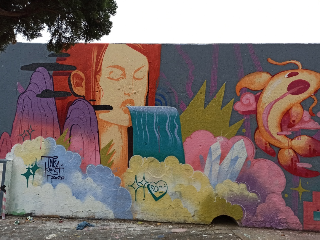 Wallspot - evalop - evalop - Project 22/10/2020 - Barcelona - Tres Xemeneies - Graffity - Legal Walls - Illustration