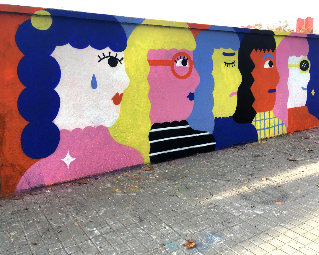 Wallspot - EmilyE - Mood Swing - Barcelona - Agricultura - Graffity - Legal Walls - Illustration