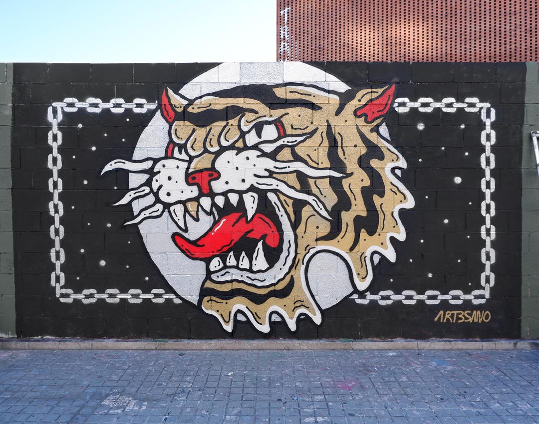 Wallspot - art3sano - Wild & Free - Barcelona - Tres Xemeneies - Graffity - Legal Walls - Illustration, Stencil, Others