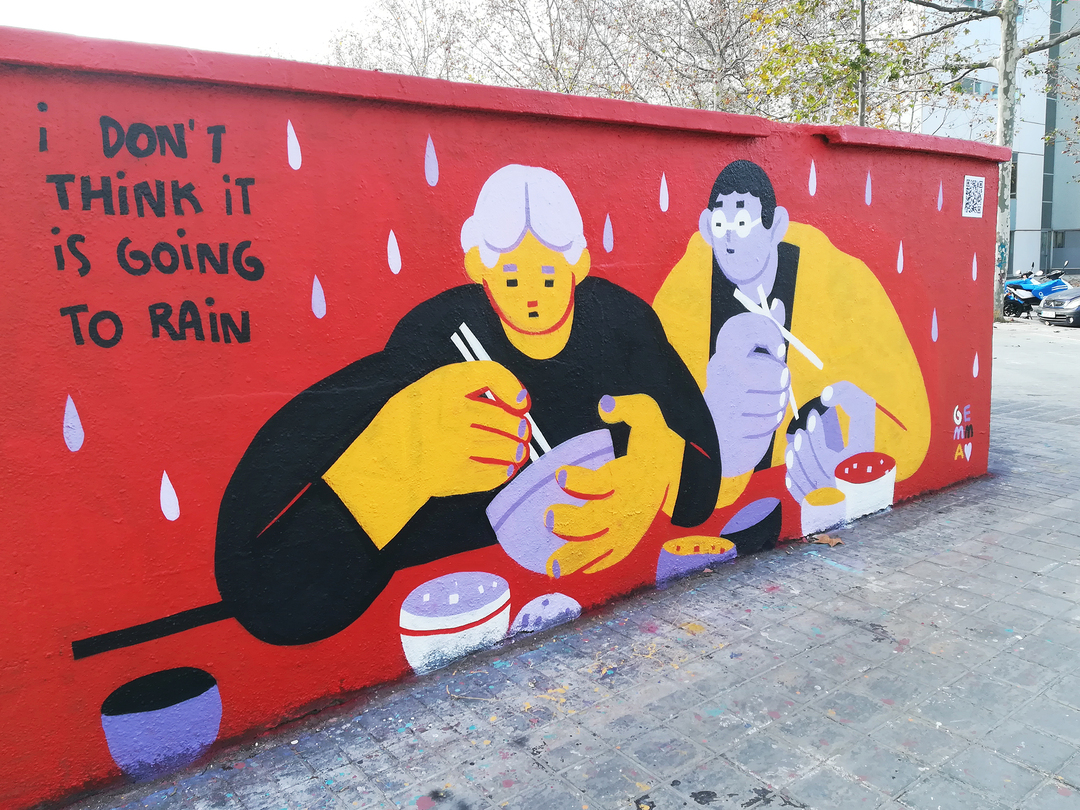 Wallspot - gemfontanals - I Don't Think It Is Going To Rain - Barcelona - Selva de Mar - Graffity - Legal Walls -