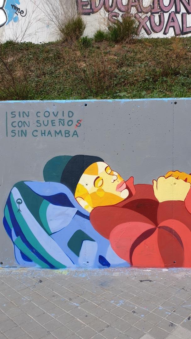 Wallspot - Creto - S I N   C H A M B A - Madrid - Dr. García Tapia - Media Legua - Graffity - Legal Walls - Illustration