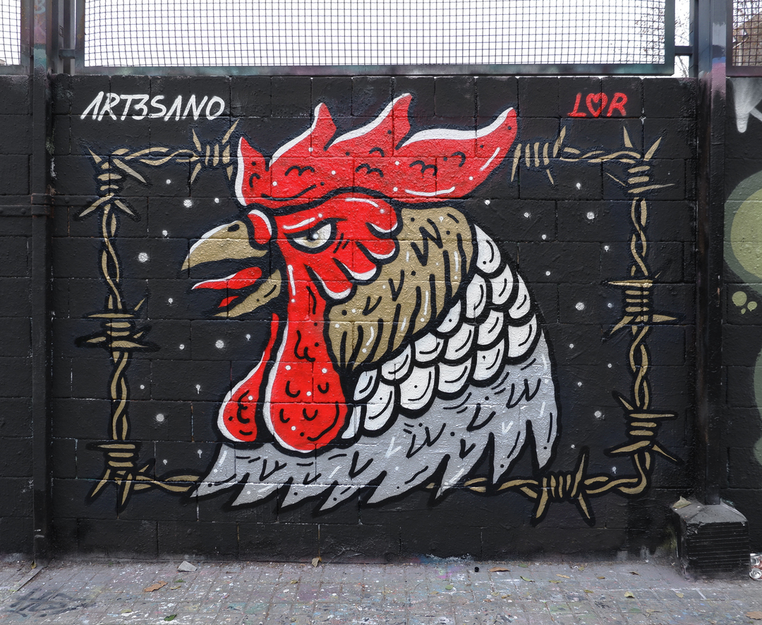 Wallspot - art3sano - Drassanes - art3sano - Barcelona - Drassanes - Graffity - Legal Walls - Illustration