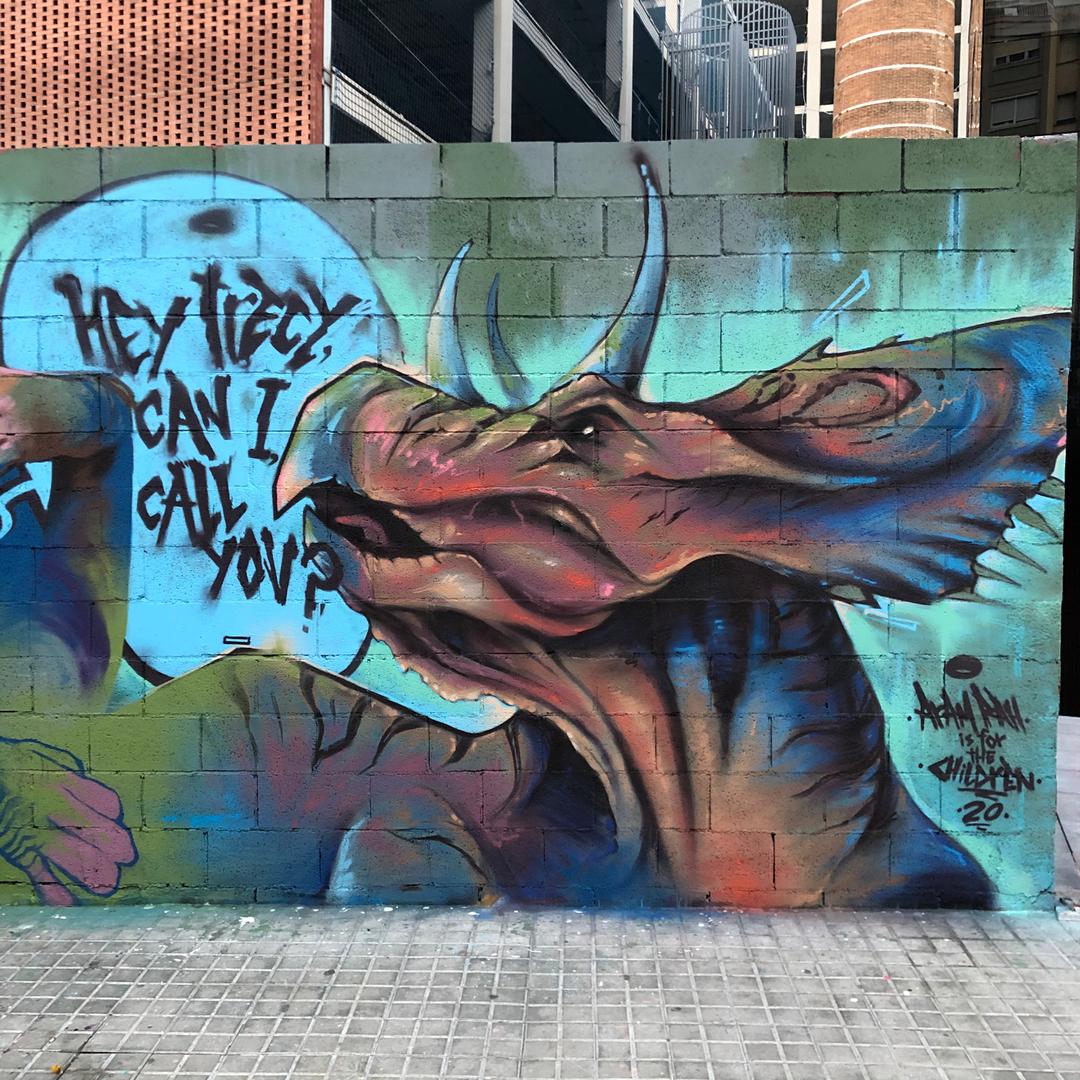Wallspot - Aram'rah -  - Barcelona - Tres Xemeneies - Graffity - Legal Walls -