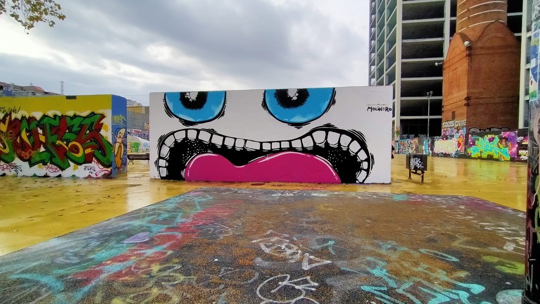 Wallspot - natalia molinero - Tres Xemeneies - natalia molinero - Barcelona - Tres Xemeneies - Graffity - Legal Walls - Ilustración