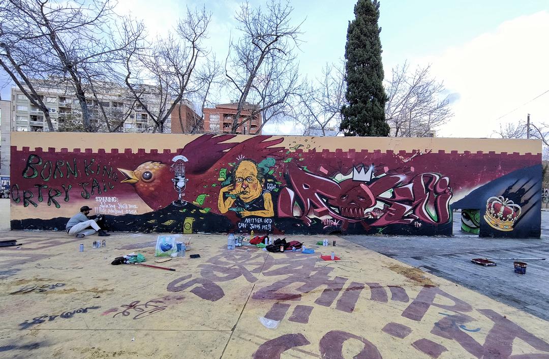 "Wallspot - ANTON SEOANE ""ROKE"" - Tres Xemeneies - ROKE - Barcelona - Tres Xemeneies - Graffity - Legal Walls - Letters"