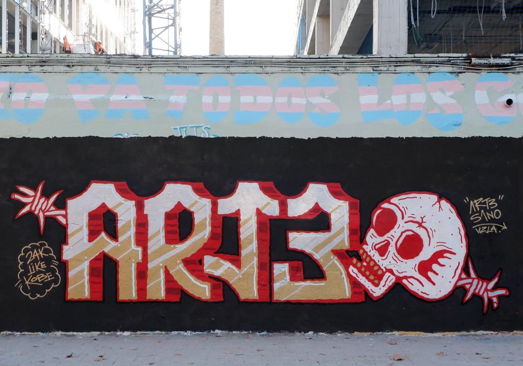 Wallspot - art3sano - Selva de Mar - art3sano - Barcelona - Selva de Mar - Graffity - Legal Walls - Letters, Illustration