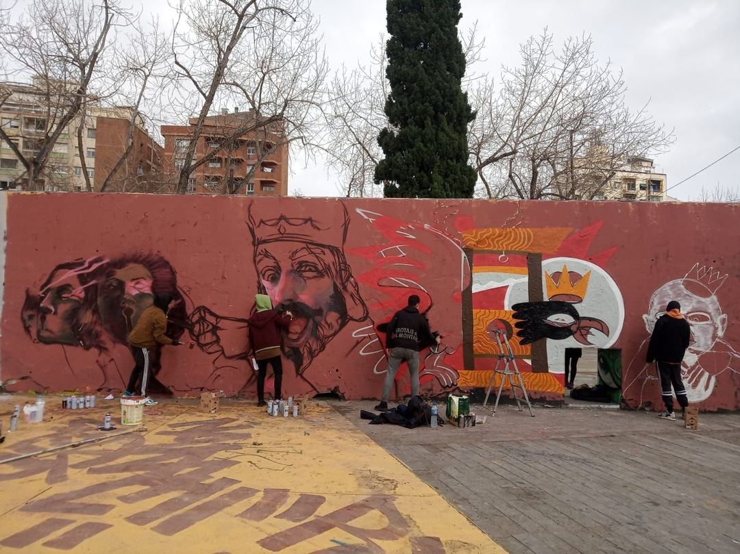 Wallspot - Pepasso - puta espanya - Barcelona - Tres Xemeneies - Graffity - Legal Walls - Illustration