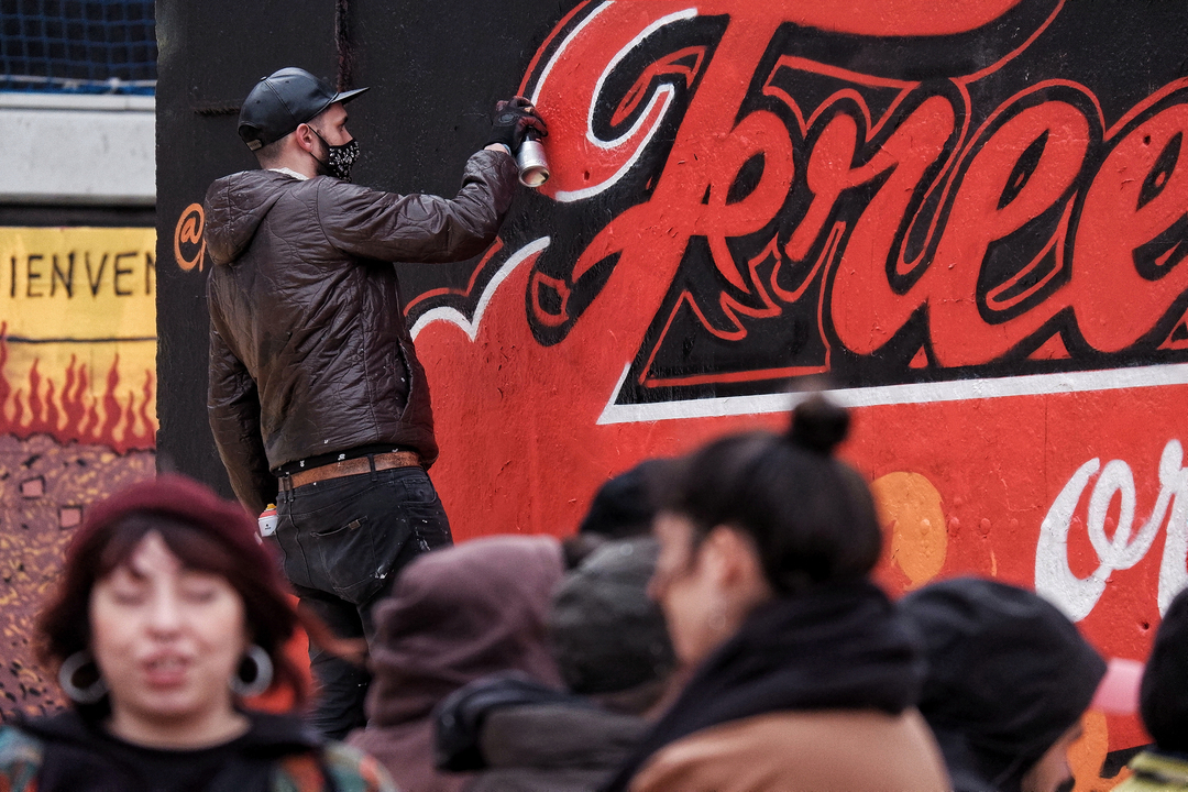 "Wallspot - ANTON SEOANE ""ROKE"" - Tres Xemeneies - ROKE - Barcelona - Tres Xemeneies - Graffity - Legal Walls - Letters, Illustration"