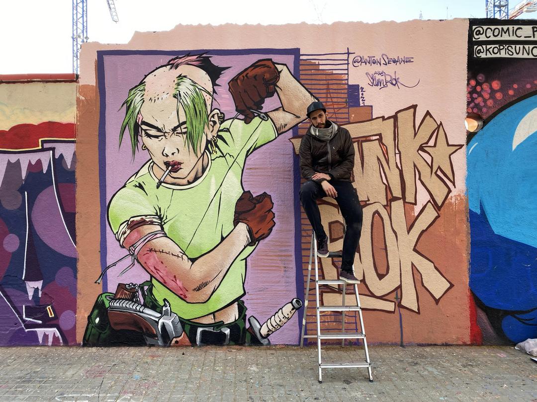 "Wallspot - ANTON SEOANE ""ROKE"" - Agricultura - ANTON SEOANE ""ROKE"" - Barcelona - Agricultura - Graffity - Legal Walls - Illustration"