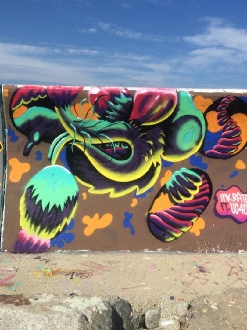 Wallspot - ink_rats - RAT TOWN - Barcelona - Forum beach - Graffity - Legal Walls - Illustration