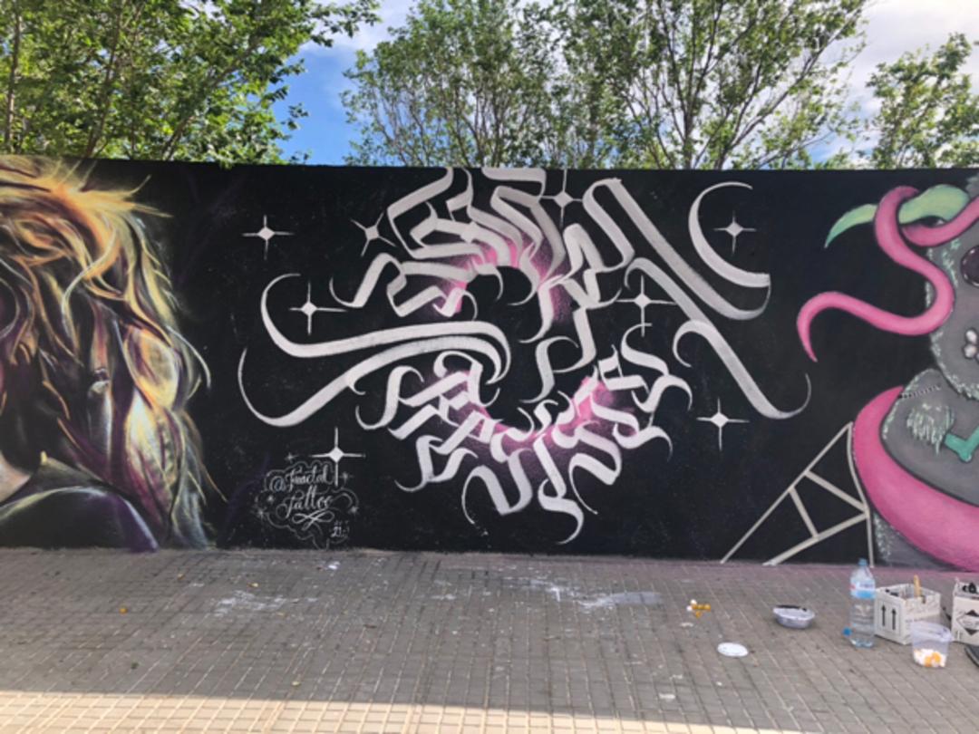 Wallspot - fractaltattoo -  - Barcelona - Forum beach - Graffity - Legal Walls -