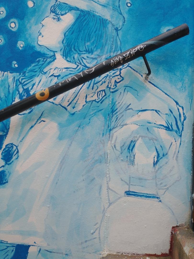 Wallspot - Vhandha - Arlequín - Barcelona - Mas Guinardó - Graffity - Legal Walls - Il·lustració