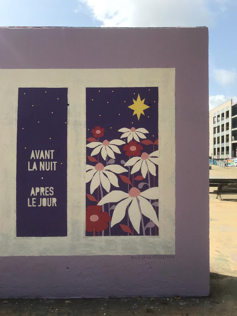 Wallspot - Les fleurs d'Emma -  - Barcelona - Tres Xemeneies - Graffity - Legal Walls -