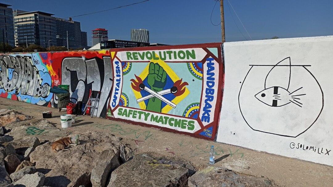 Wallspot - ivo_corr - Revolution Safety Matches - Barcelona - Forum beach - Graffity - Legal Walls - ,