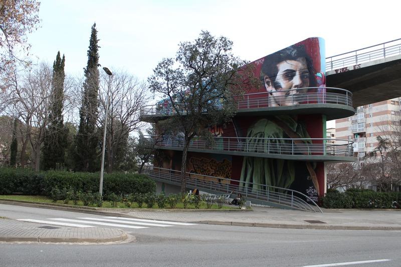 Wallspot Post - 9 de FEBRERO – PUENTE DE LA RONDA DE HORTA GUINARDÓ – MURAL MARINA GINESTÀ