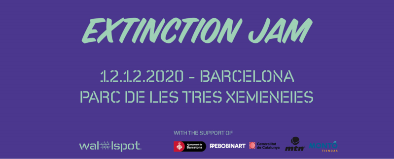 Wallspot Post - EXTINCTION JAM -BARCELONA