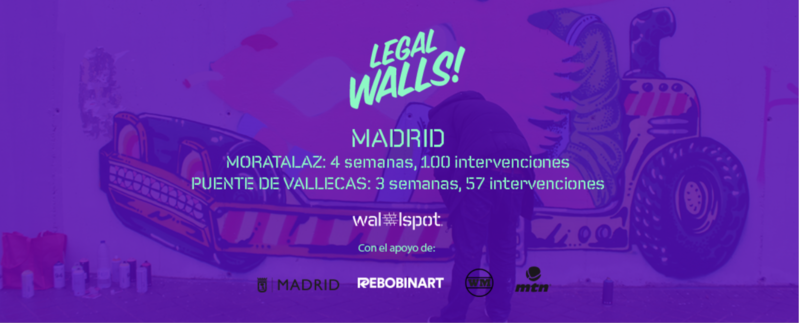 Wallspot Post - More than 150 interventions in a month of legal walls in Madrid!