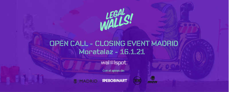 Wallspot Post - Collective Open Call to celebrate the closure of the Moratalaz wall in Madrid