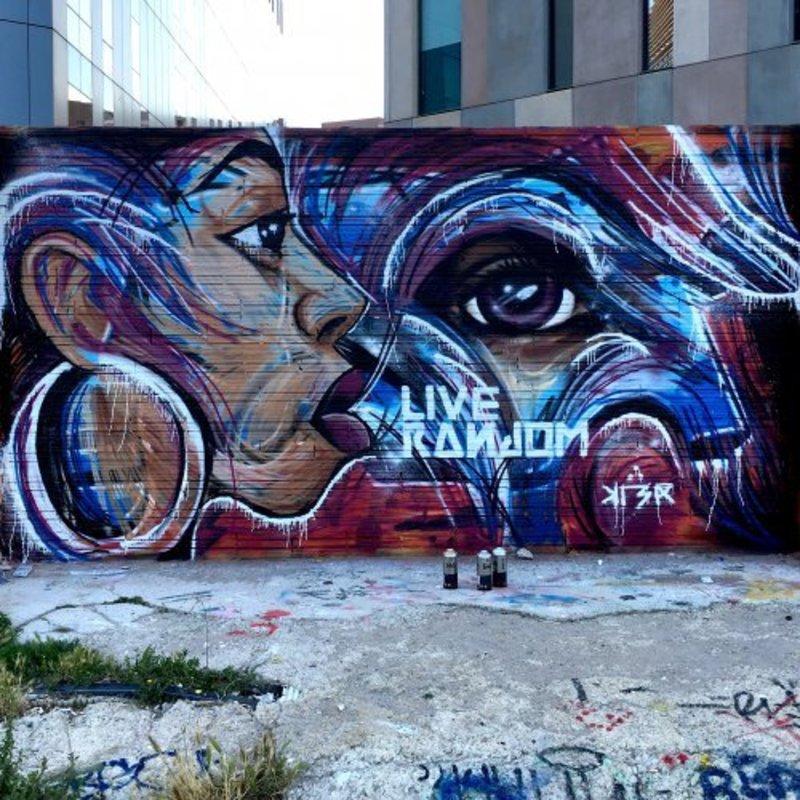 Wallspot - KLER - Barcelona - Glòries Wall - Graffity - Legal Walls - Lletres, Il·lustració, Stencil, Altres