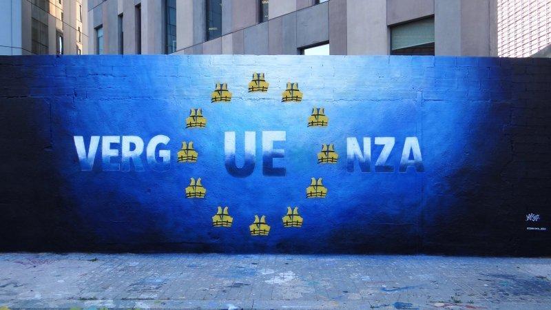 Wallspot - LaCastillo - VERG UE NZA - Barcelona - Glòries Wall - Graffity - Legal Walls - Lletres, Il·lustració, Stencil, Altres