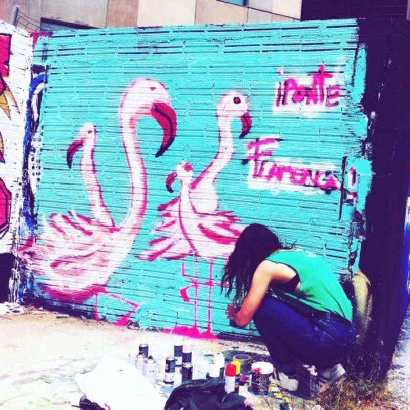 Wallspot - IRIS HERRERA - Barcelona - Glòries Wall - Graffity - Legal Walls - Il·lustració, Altres