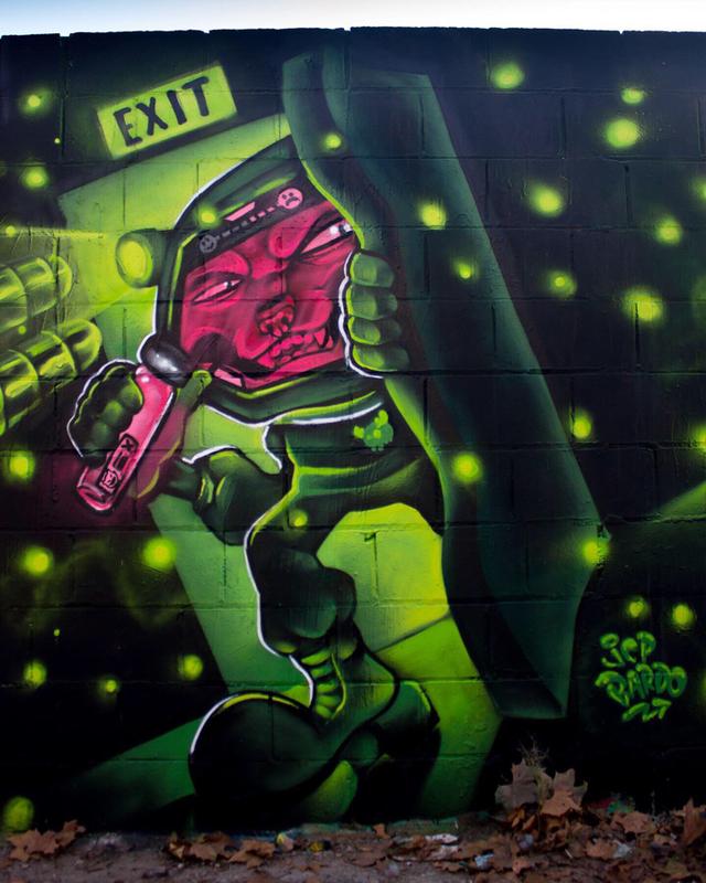 Wallspot - JCP Bardo - Poble Nou - Barcelona - Poble Nou - Graffity - Legal Walls - Ilustración