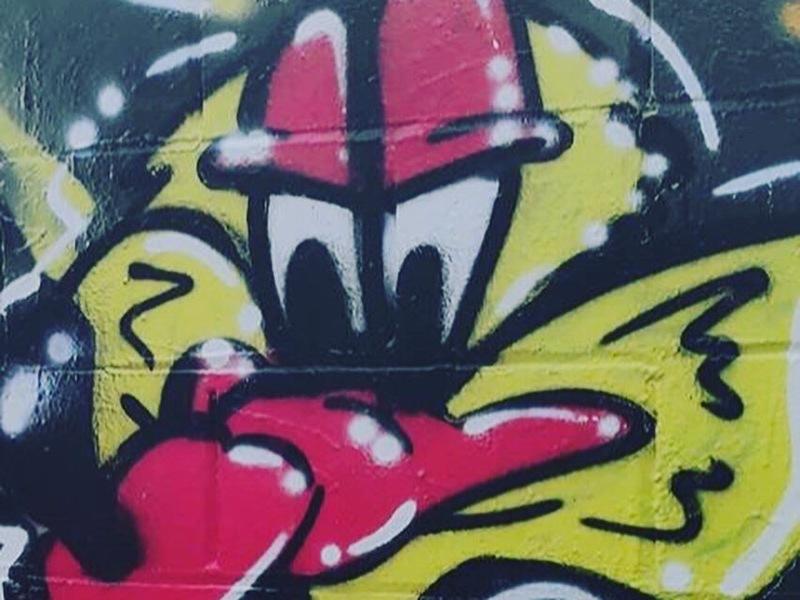 Wallspot - KSKONE - KSK1 ft. CLOOS - Barcelona - Poble Nou - Graffity - Legal Walls - Letras, Ilustración