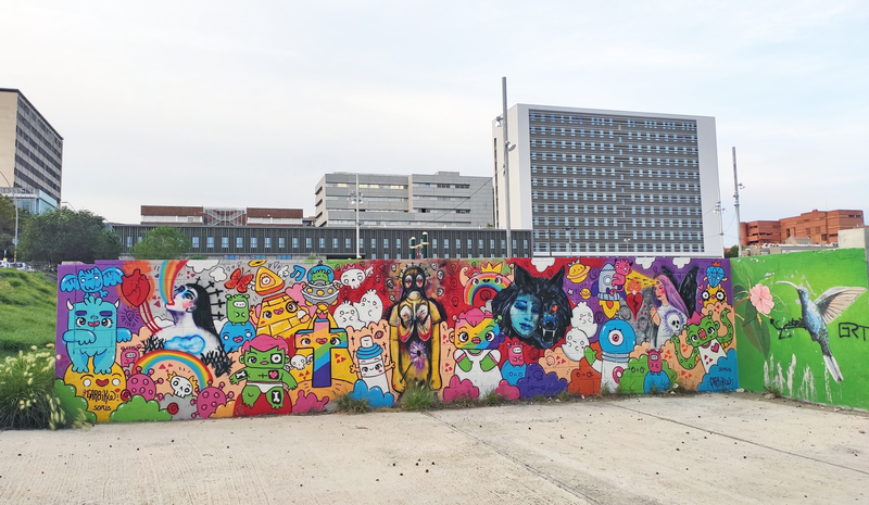 Wallspot - Garbi KW - Garbi KW + Ruth Soria - Barcelona - Parc de la Bederrida - Graffity - Legal Walls -