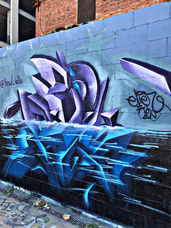 Wallspot - el_hier - Under water! - Barcelona - Tres Xemeneies - Graffity - Legal Walls - Letras, Ilustración, Otros