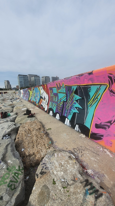 Wallspot - Thomas Degsson - Barcelona - Forum beach - Graffity - Legal Walls -