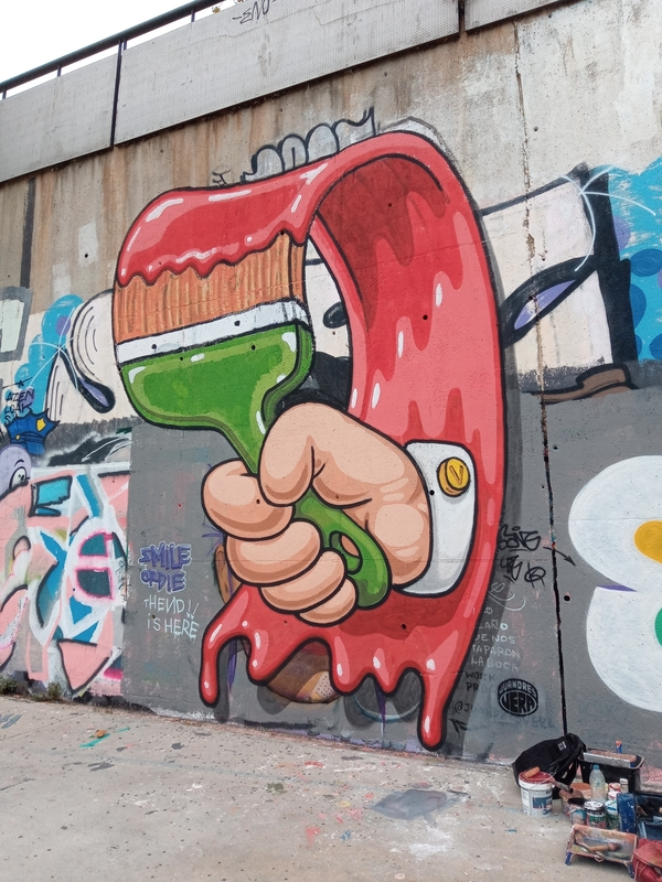 Wallspot - OPHICIUS - LOOP - Barcelona - Skate Park les corts - Graffity - Legal Walls -