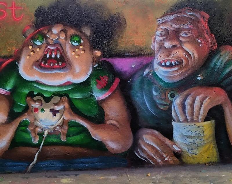 Wallspot - S.Waknine - Tres Xemeneies - S.Waknine - Barcelona - Tres Xemeneies - Graffity - Legal Walls - Ilustración