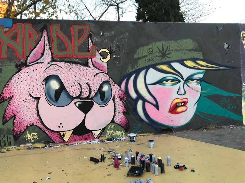 Wallspot - nirv_anna - Cool Cats - Barcelona - Tres Xemeneies - Graffity - Legal Walls - Ilustración