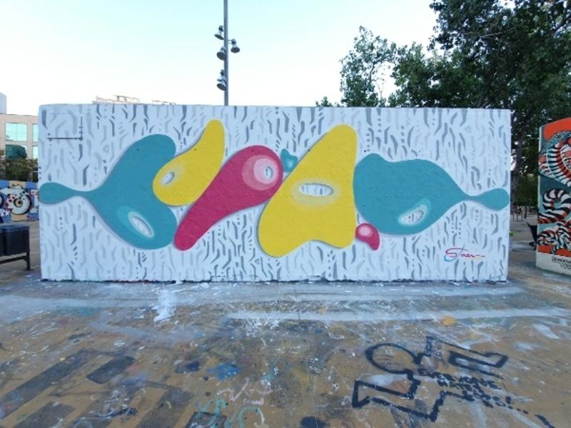 Wallspot - Santiago Jaén - Barcelona - Tres Xemeneies - Graffity - Legal Walls -